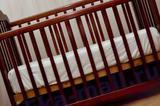 Детская кроватка с продольным маятник+ матрас